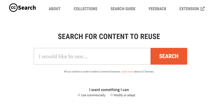 Creative Commons Search - An Alternative to Google Images for Free Media Search