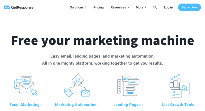 GetResponse - Free your Marketing Machine