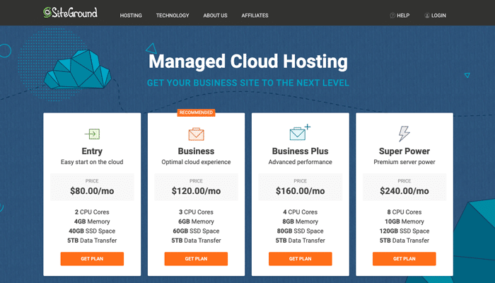 SiteGround - High Traffic Managed Cloud Hosting