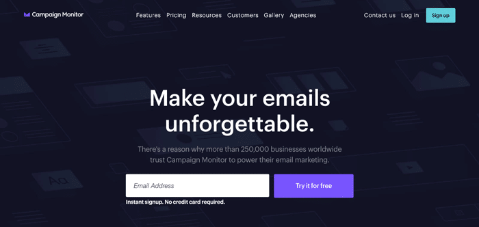 Campaign Monitor - Make your Emails Unforgettable