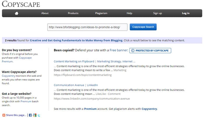 Check Content For Duplication In Blogging