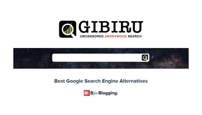 Gibiru - An Uncensored Anonymous Search Alternative To Google