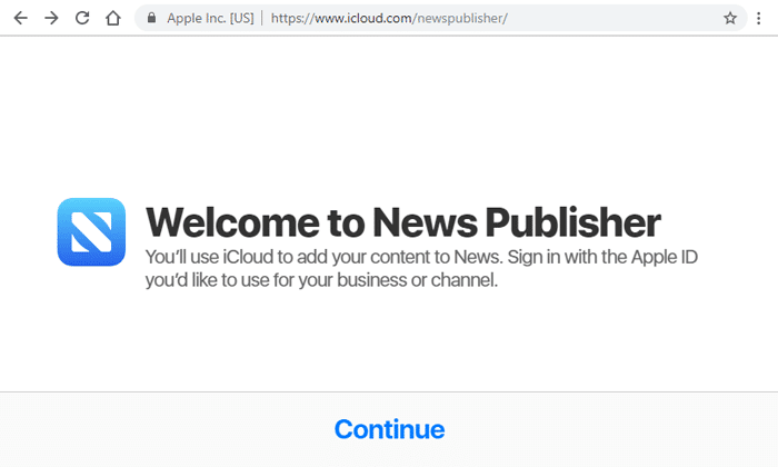 Apple News Publisher Page
