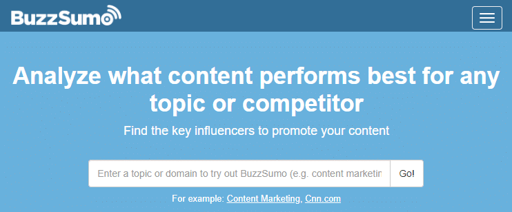 BuzzSumo - Find The Most Shared Content And Key Influencers