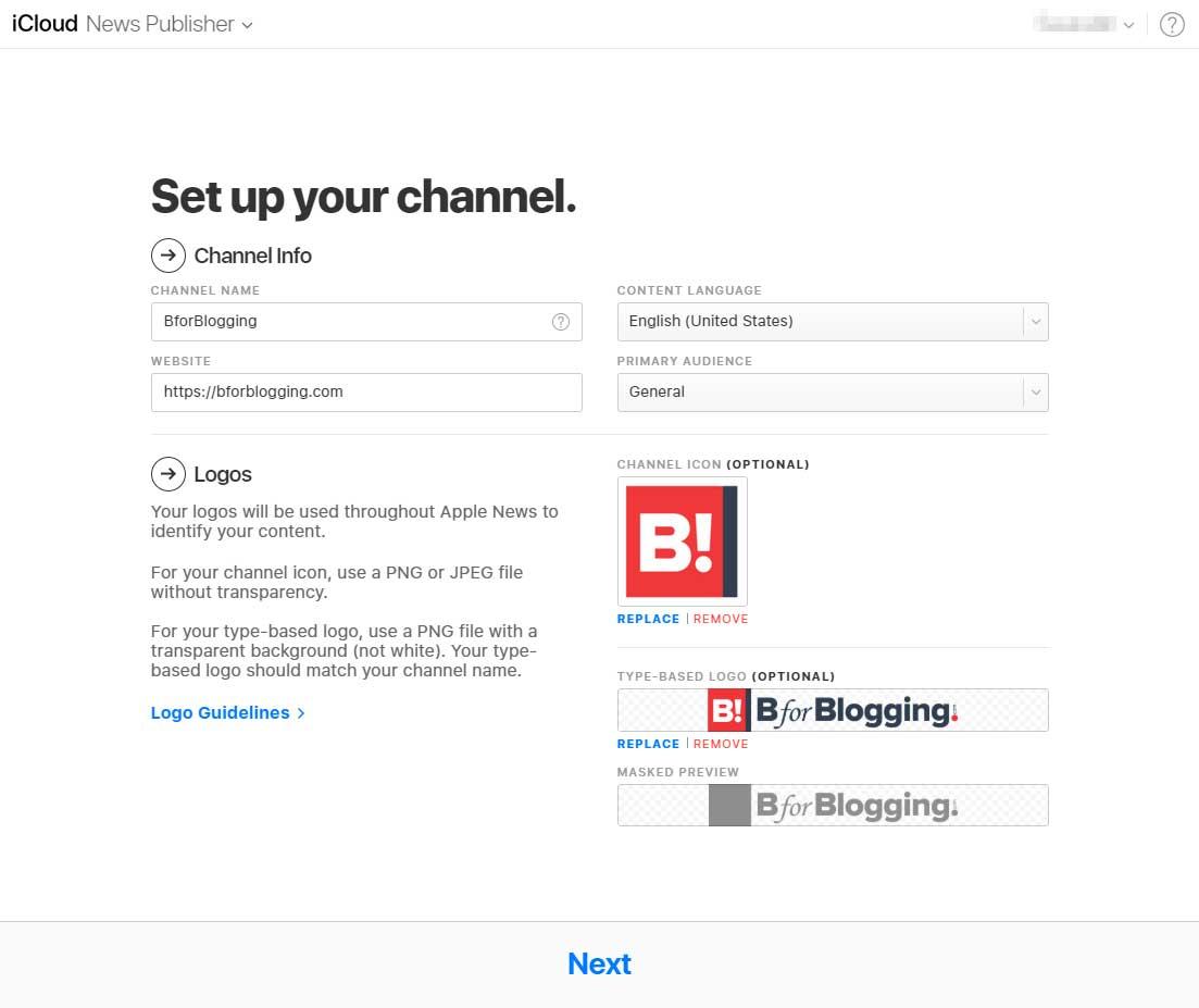 Setup Apple News Publisher Channel