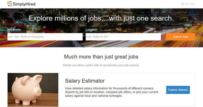 Simplyhired - Most Proliferated Freelance Website
