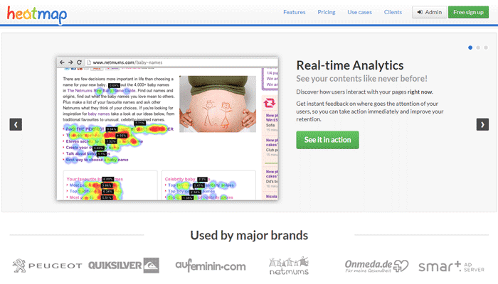 Heatmap - Real Time Analytics for your website