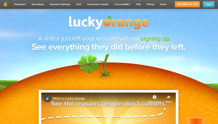 Lucky Orange - A Dynamic Heatmaps Tool and Visitor Recordings