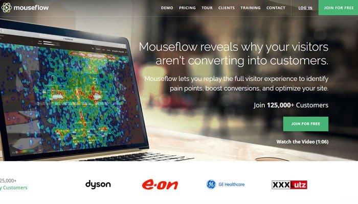 Mouseflow - A popular Heatmap Tracker