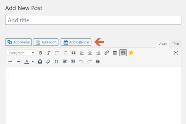 Add Calendar In Any Post
