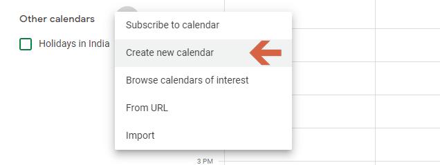 Create a New Calendar for Your Blog