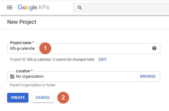 Create a Project at Google API Console