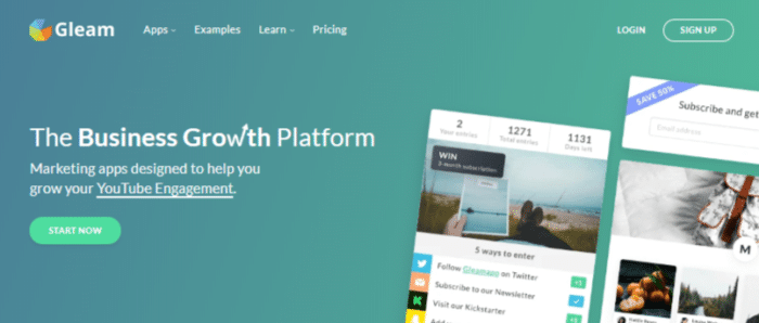 Gleam - Grow Your Business With Contests & Social Marketing Apps