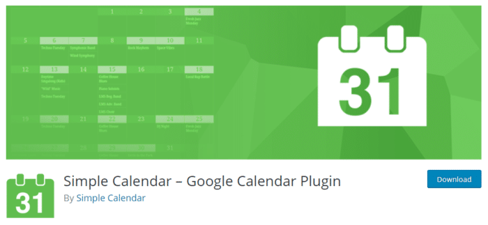 Simple Calendar – Google Calendar WordPress Plugin