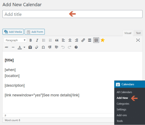 Simple Calendar - Google Calendar Plugin Edit Screen