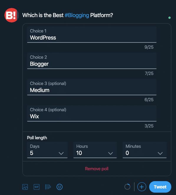 Create A Twitter Poll